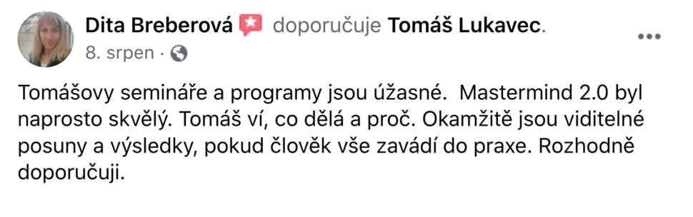 Reference - Dita Breberová