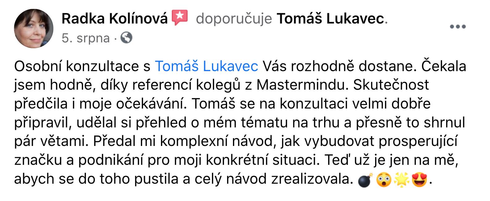 Reference - Radka Kolínová