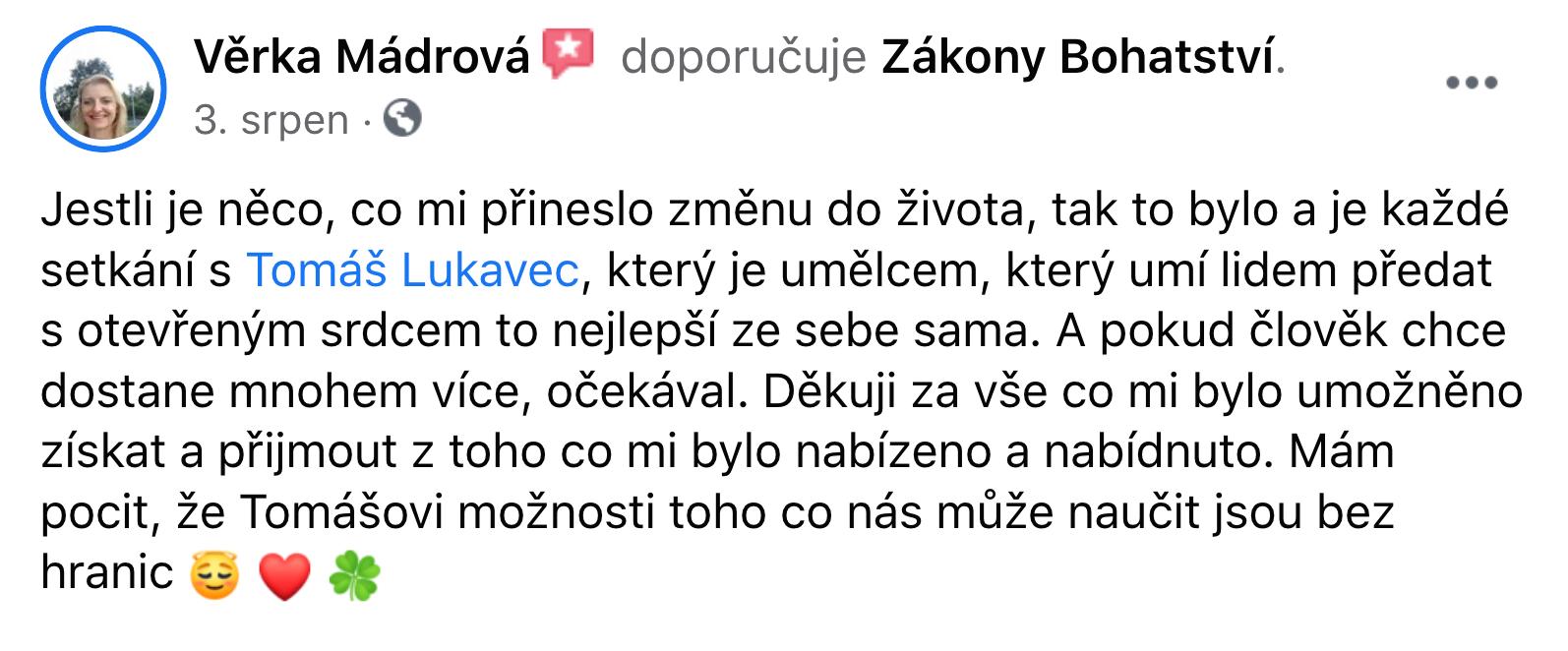 Reference - Věrka Mádrová